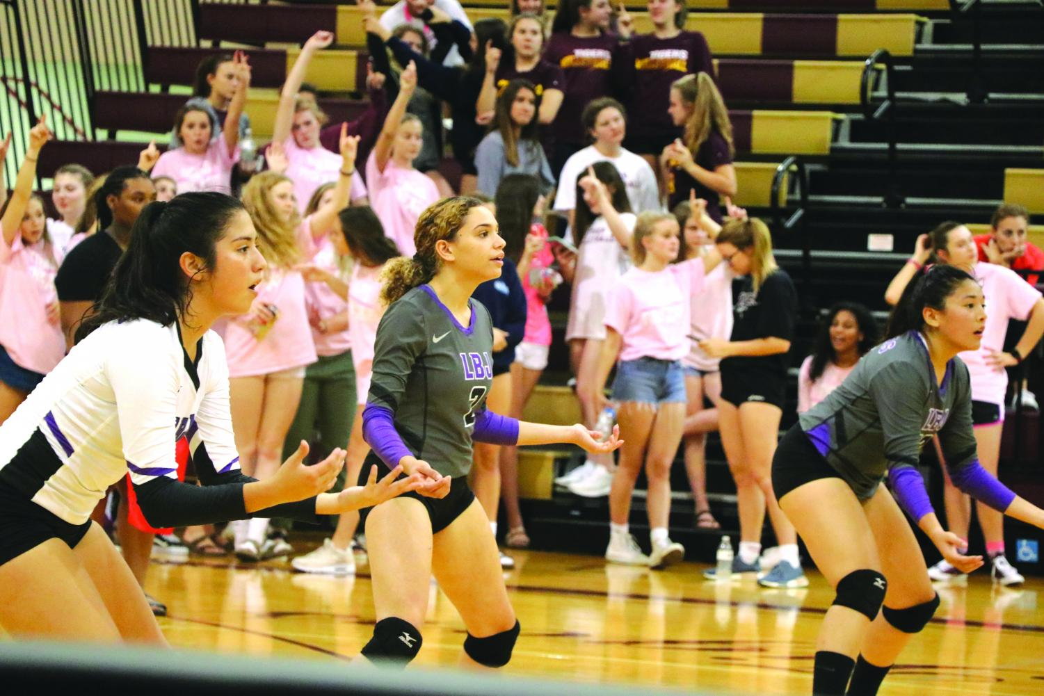 LBJ girls volleyball team plays Dripping Springs, eventually losing 3-0. photo by Jordan Jewell